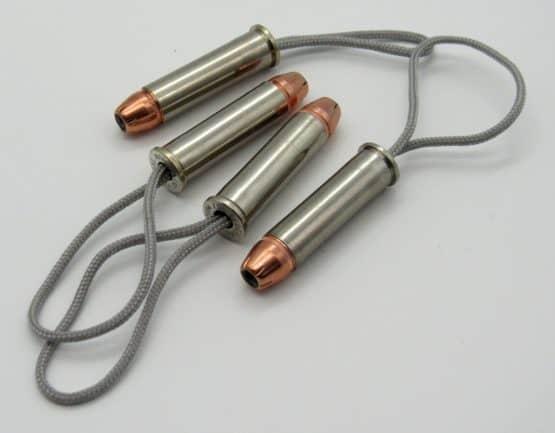 357 Magnum Bullet Zipper Pull with 125gr Hornady XTP Hollow Point Bullet