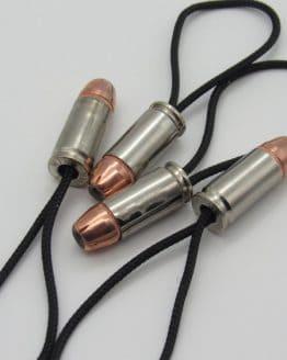9mm Bullet Zipper Pull with 125gr Hornady XTP Hollow Point Bullet