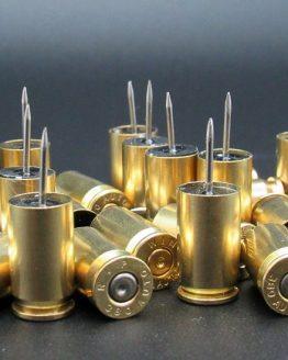 380 ACP Bullet Push Pins Yellow Brass